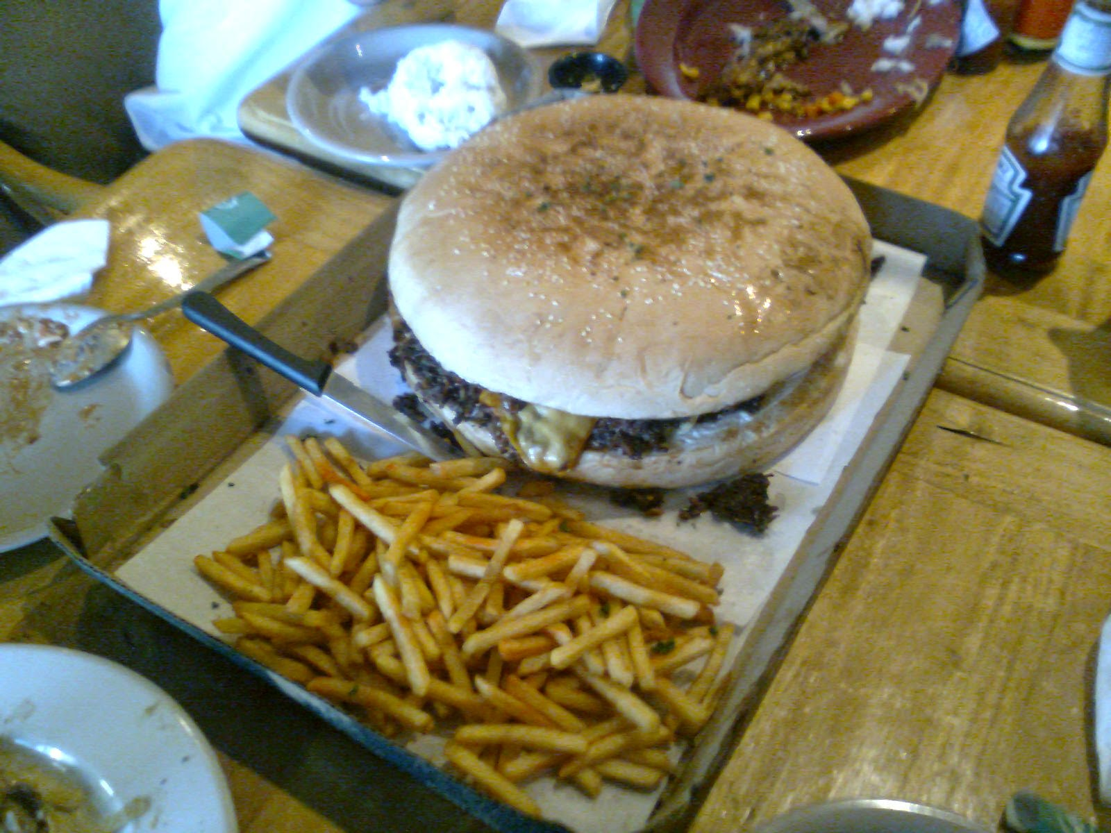 A Taste of the Philippines: The Mighty Ton Giant Hamburger ...