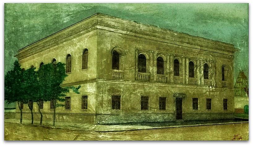 Pintura do prédio da Biblioteca Riograndense