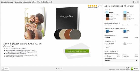 Saal Design-Opciones album fotografico.