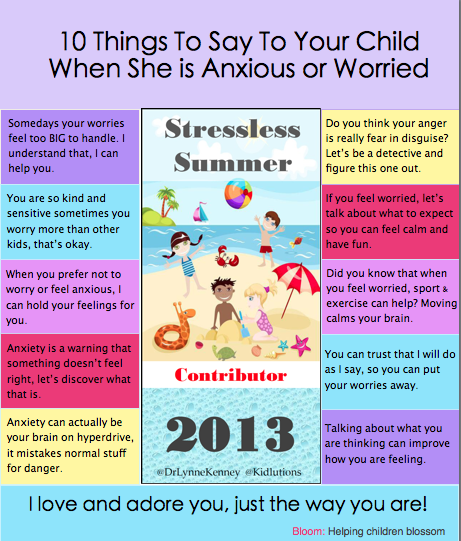 """Spin-Doctor Parenting"": 10 Things to Say to an Anxious Child"