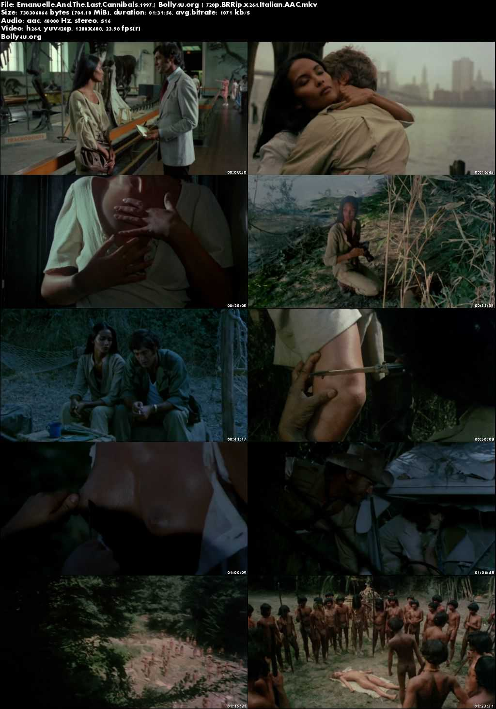 Emanuelle And The Last Cannibals 1997 BRRip 700MB Italian 720p ESub Download