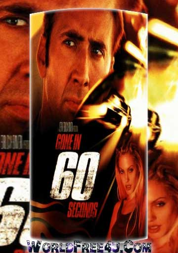 Poster Of Gone in 60 Seconds (2000) Full Movie Hindi Dubbed Free Download Watch Online At worldfree4u.com