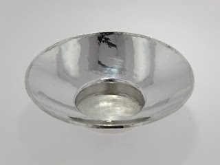 Jens Hansen silver condiment dish auctioned for charity