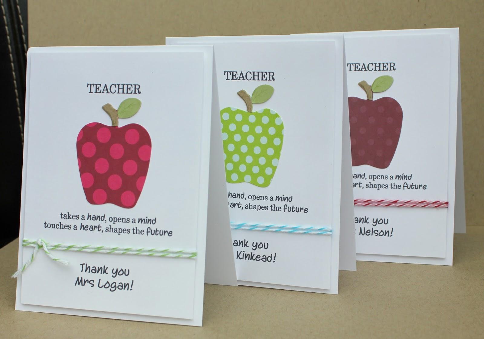 sarah's little snippets teacher thank you cards