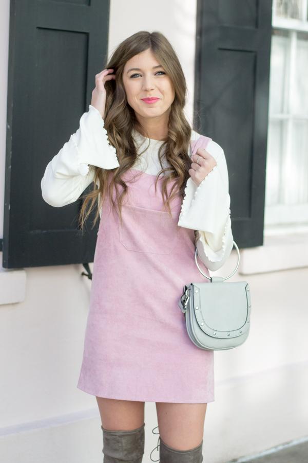 Pink Corduroy Dress | Chasing Cinderella
