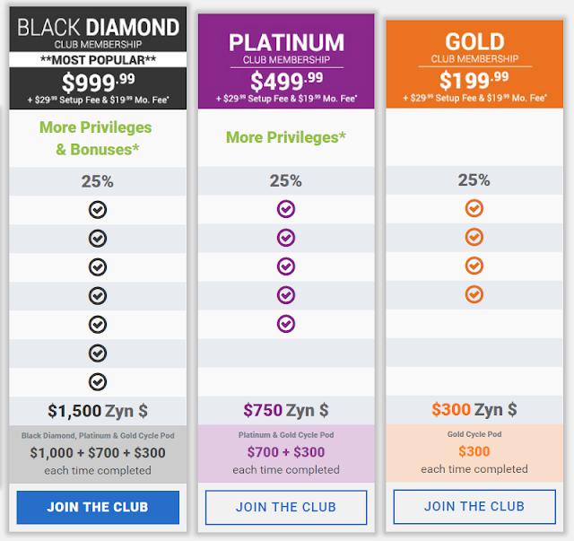 Cost of Zyndio membership