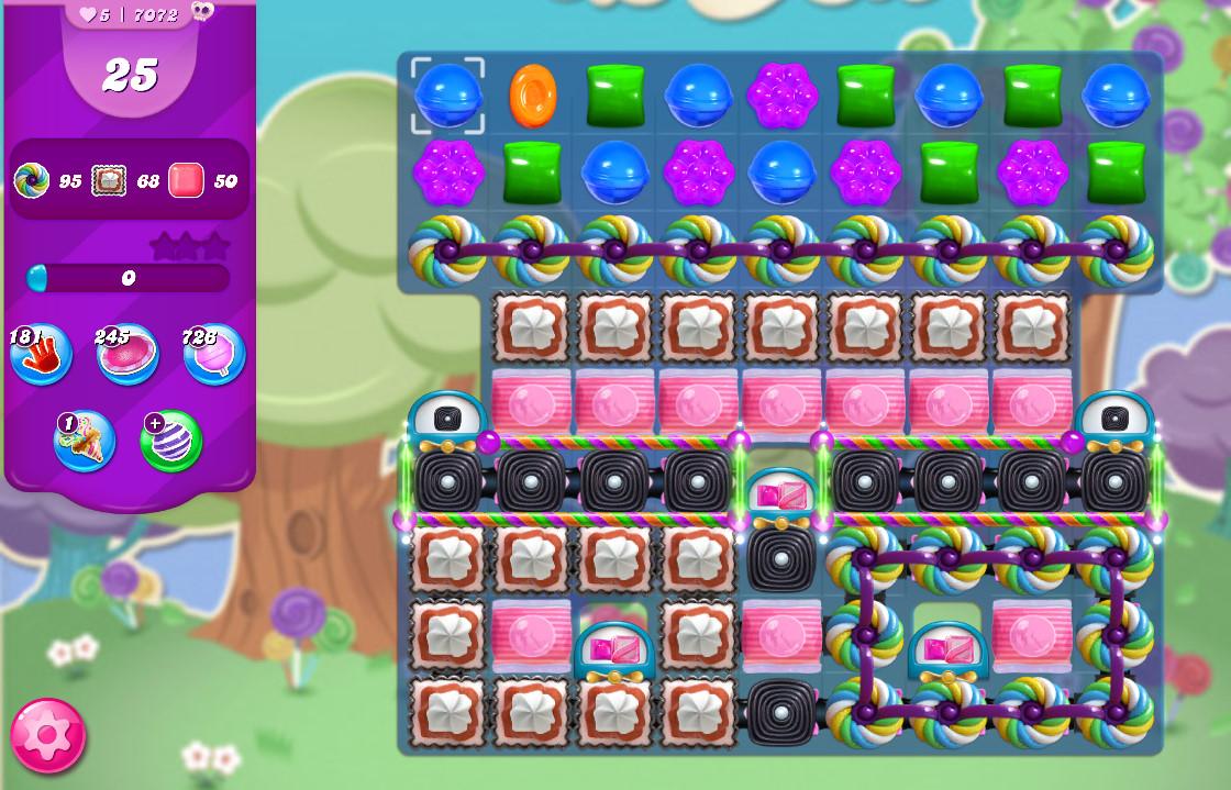 Candy Crush Saga level 7072