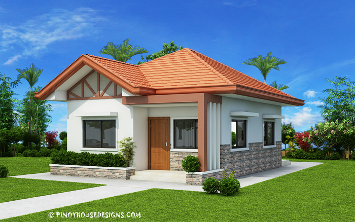 These one story small home blueprints and floor plans are for Small house architecture design philippines