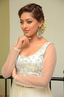 Anu Emmanuel in a Transparent White Choli Cream Ghagra Stunning Pics 097.JPG