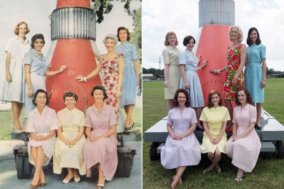 Revista Life com as esposas dos astronautas Mercury Seven e as atrizes de The Astronaut Wives Club