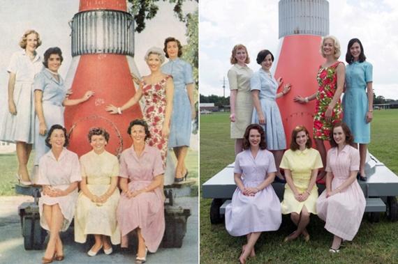 Revista Life com as esposas dos astronautas Mercury Seven e as atrizes de The Astronaut Wives Club