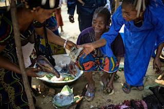 Women selling bushmeat at a market photo by Ollivier Girard CIFOR