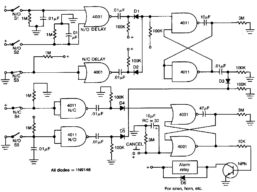 House security monitor system Circuit Diagram
