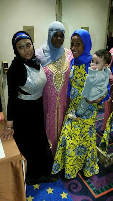 Black Muslim Hijabis at Wedding