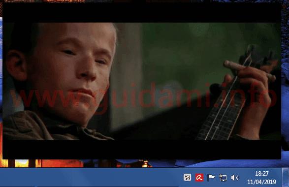 Video picture in picture su schermo aperto con Google Chrome