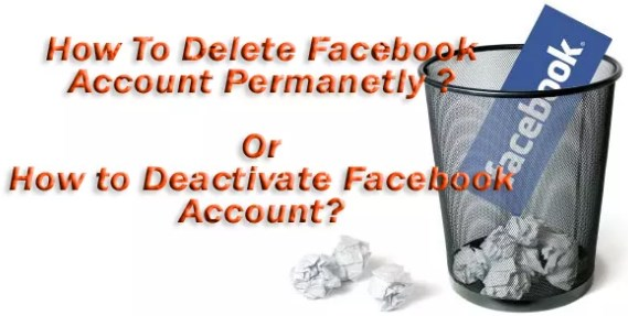 How to deactivate and delete facebook account
