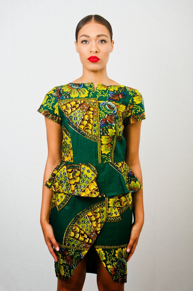 Asiyami Gold african print dress.
