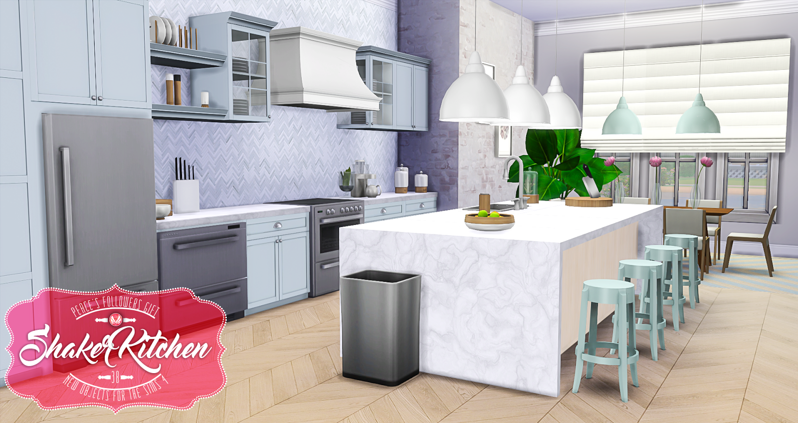 Simsational Designs: Shaker Kitchen