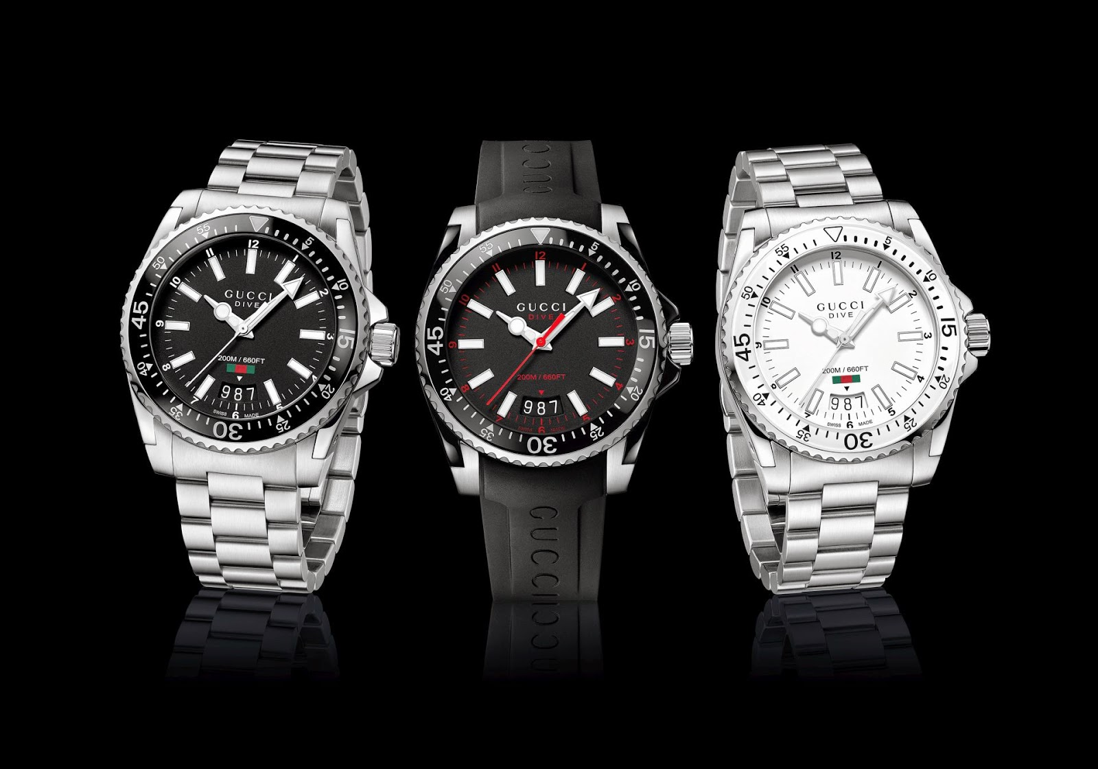 GUCCI Timepieces DIVE Collection New Models
