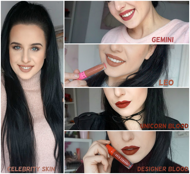 jeffree star velour liquid lipstick celebrity skin designer blood leo gemini unicorn blood
