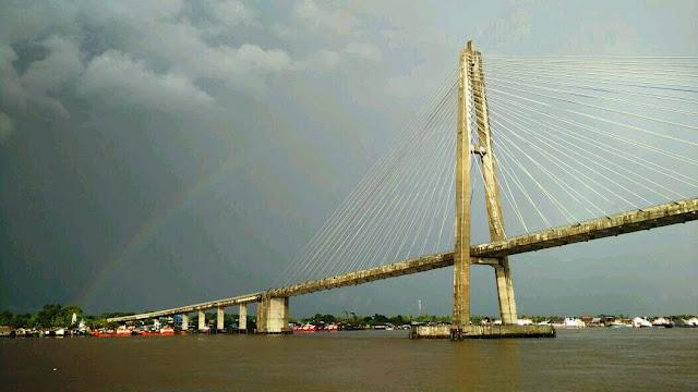 Sungai mahakam, samarinda, jalan-jalan, jembatan mahkota II