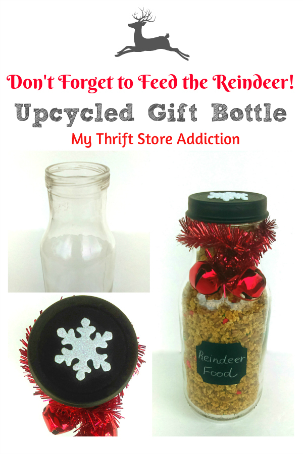 DIY reindeer food and gift bottle tutorial