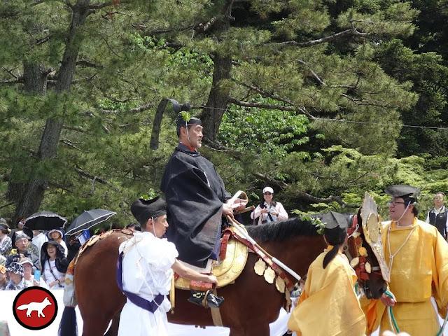 Chef des messagers Aoi matsuri de Kyoto