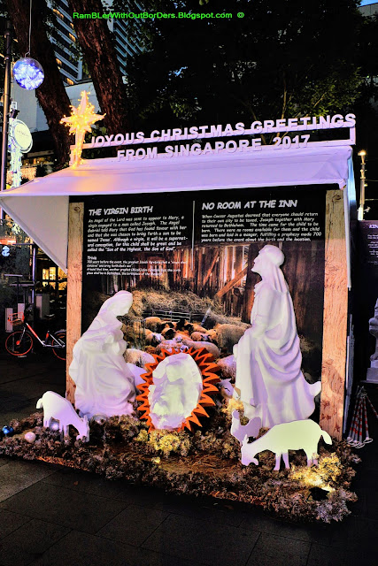 Nativity scene, Christmas Light Up, Orchard Road, Singapore