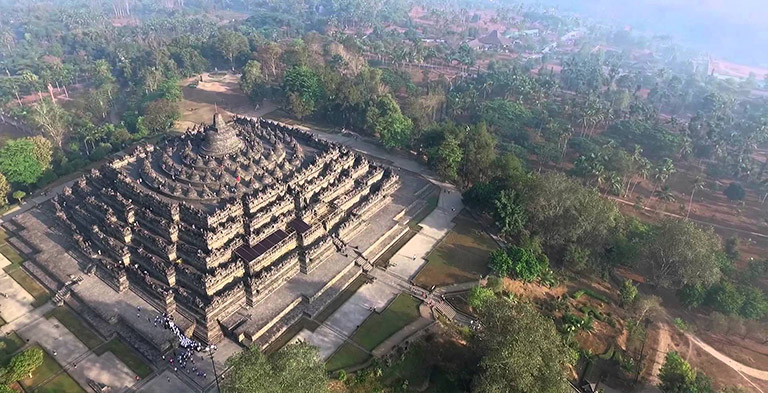 Asia Magnificent Borobudur Temple Compounds as UNESCO sites
