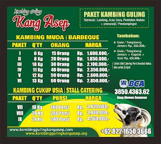 harga kambing guling di lembang 2019