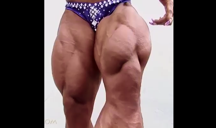 Video training and posing, Big muscle women bodybuilding