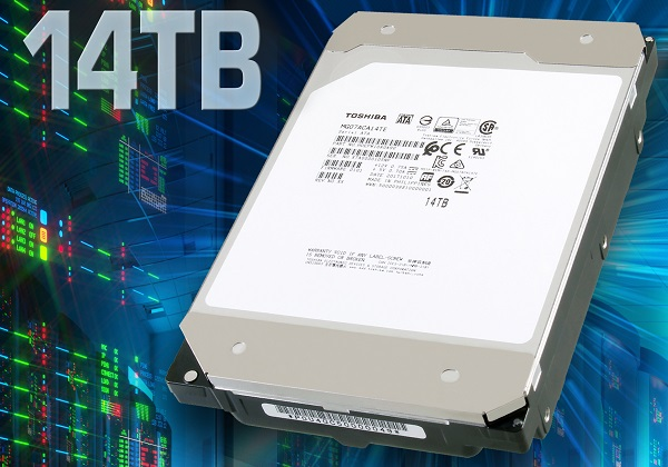 TOSHIBA debuts world's first 14TB HDD with Conventional Magnetic Recording (CMR)