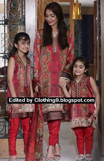 Eid 2015 Silk Chiffon Embroidery Collection