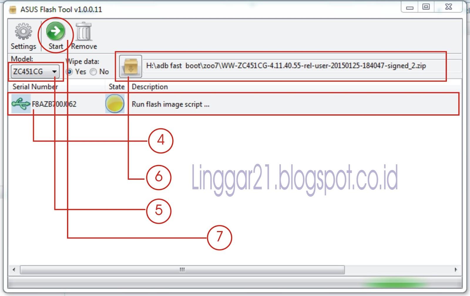 Tutorial Flash Asus Zenfone C Z007