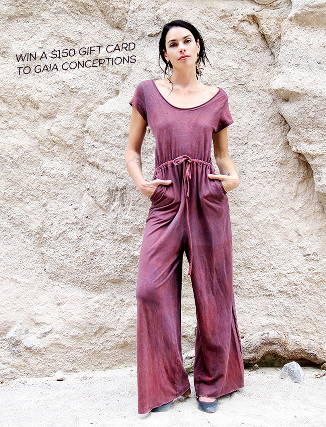 GIVEAWAY: Win a $  150 Gift Card to Gaia Conceptions Sustainable Clothing!