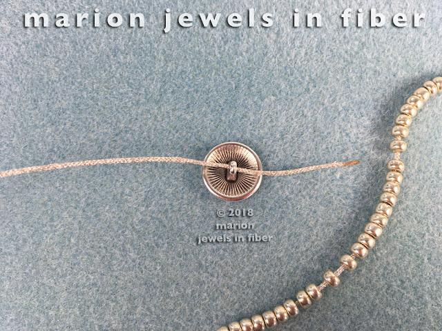 Turkish Flat Bead Crochet Bracelet Tutorial with Metallic Cord - Step 3