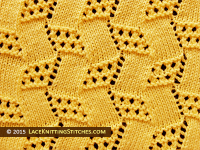 Popular lace knitting pattern - 10 -