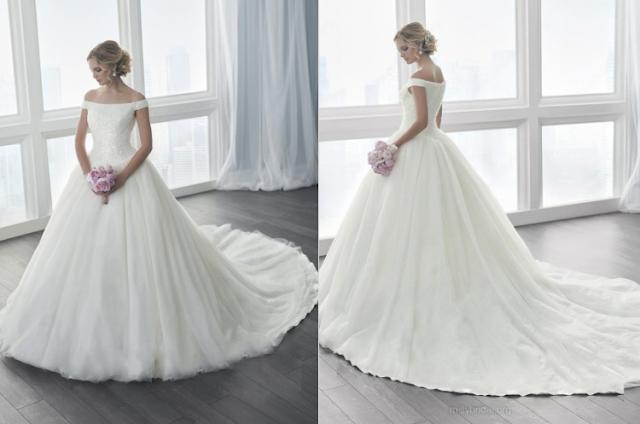 Vestido de novia hombros al descubierto MillyBridal UK