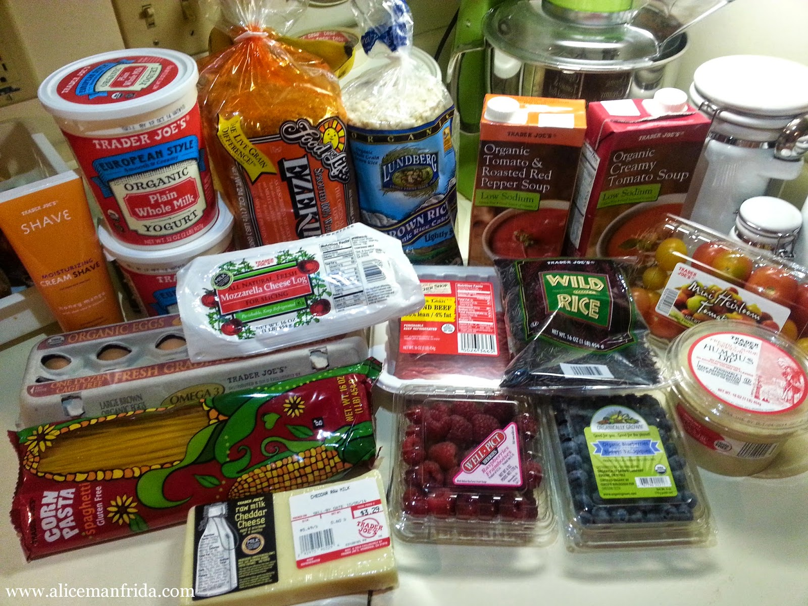 groceries, Trader Joe's