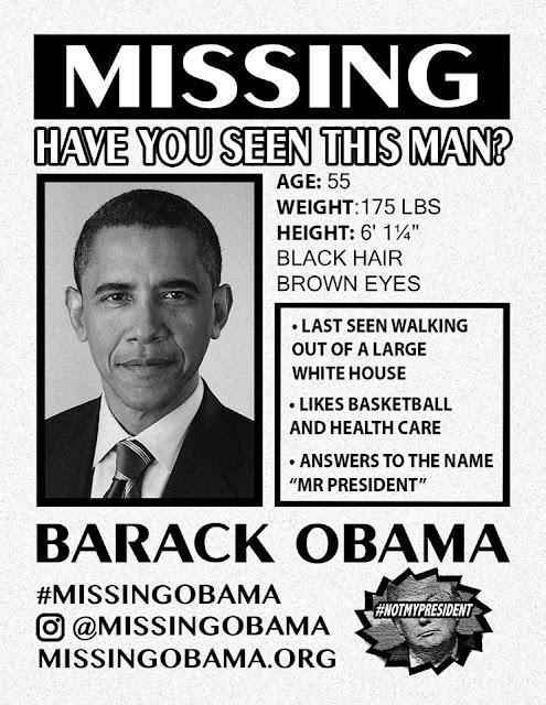 Obama Missing Poster