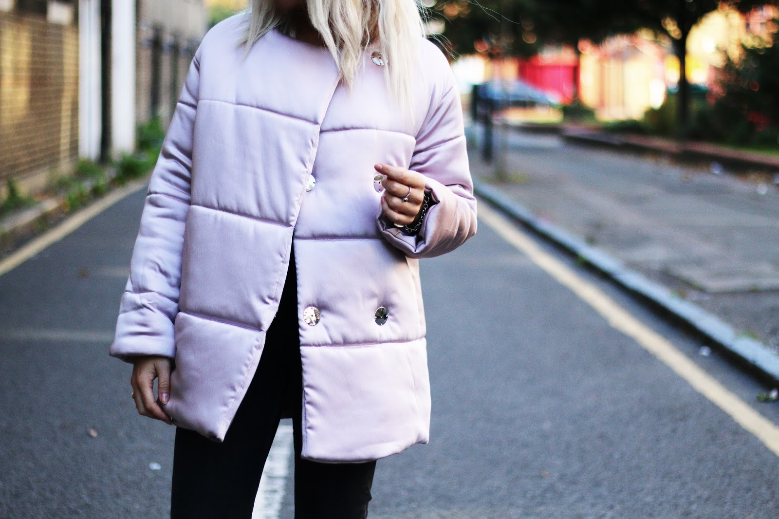 pink puffa jacket from topshop