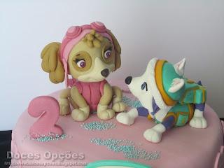 girl paw patrol cake