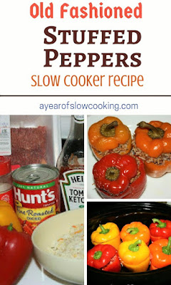 Just like how grandma used to make them! Essentially you are making a tiny little meatloaf inside of each pepper. This is easy and delicious and you can fit up to 8 small peppers in a 6-quart slow cooker.