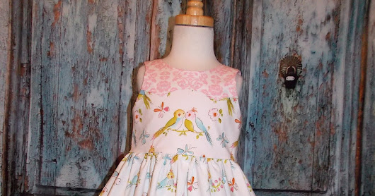 GypsySpoonful Love Birds Party Dress by That's So Addie. Ready to ship size 2/3T