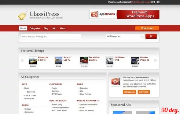 ClassiPress v3.5.7 – Responsive Classified Ads WP Theme