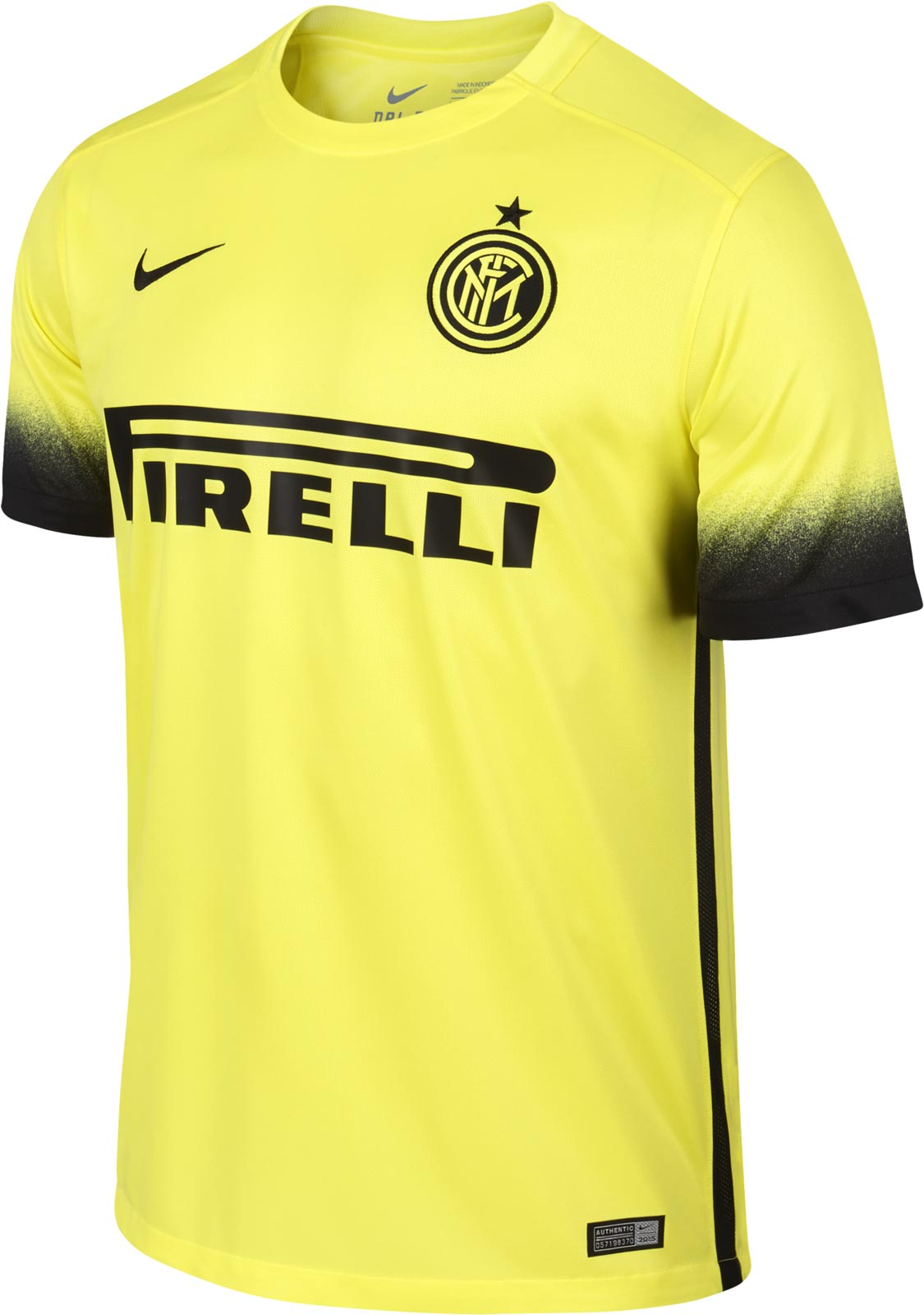 Boys 2015/16 Inter Milan Night Rising Stadium Light Voltage Yellow Ii/Black/Light Voltage Yellow Ii