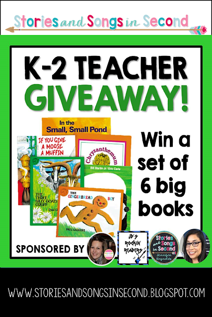 Don't miss the opportunity to win six great Big Books! Enter the I Teach K-2 Giveaway from Dec. 11-Dec.16, 2016!