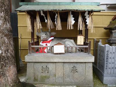 綱敷天神社牛