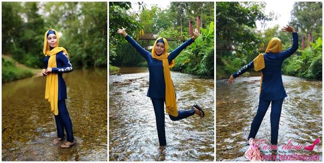 PINK N' PROPER Modest Azra Floral Muslimah Swimwear Set