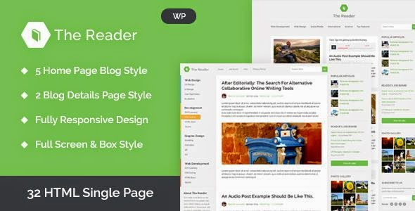 WordPress Minimal Blog Template
